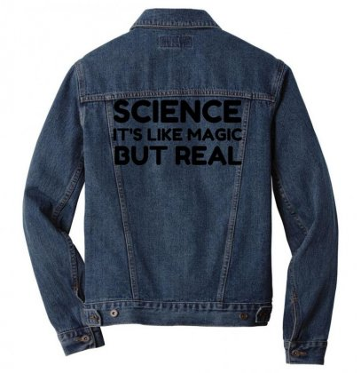 Science Like Magic But Real Men Denim Jacket Designed By Perfect Designers