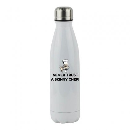 Skinny Chef Stainless Steel Water Bottle Designed By Perfect Designers