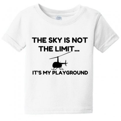 Sky Playground Helicopter Baby Tee Designed By Perfect Designers