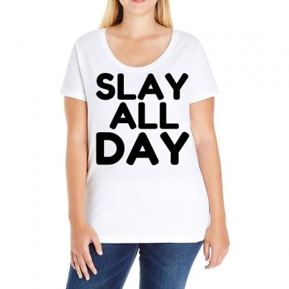 Slay All Day Ladies Curvy T-shirt Designed By Perfect Designers