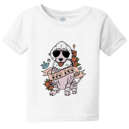 Poodle Bad Dog Baby Tee Designed By Lotus Fashion Realm