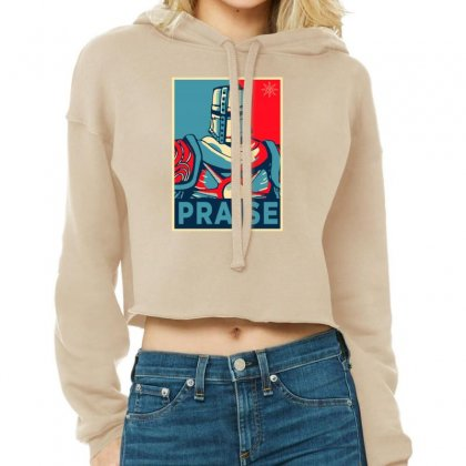 Praise The Sun Dark Soul Cropped Hoodie Designed By Lotus Fashion Realm