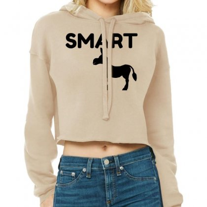 Smart Ass Cropped Hoodie Designed By Perfect Designers