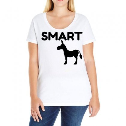 Smart Ass Ladies Curvy T-shirt Designed By Perfect Designers