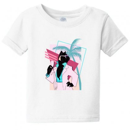 Power Panther 80s Baby Tee Designed By Lotus Fashion Realm