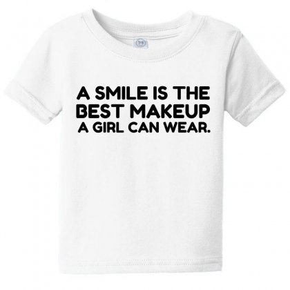 Smile Best Makeup Baby Tee Designed By Perfect Designers