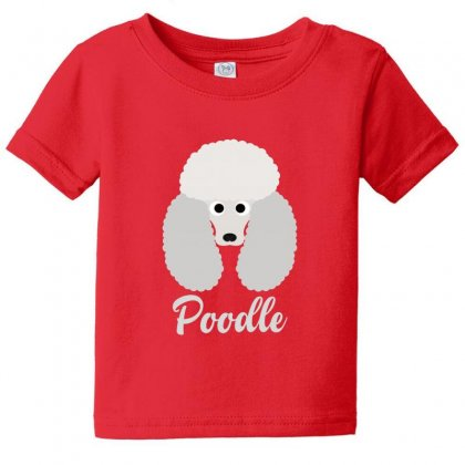 Poodle Baby Tee Designed By Lotus Fashion Realm