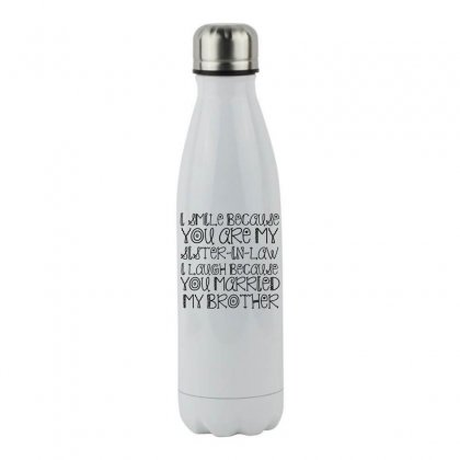Smile Sister In Law Stainless Steel Water Bottle Designed By Perfect Designers
