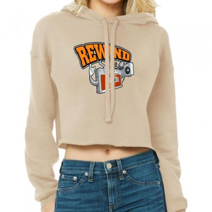 Rewind 80s Cropped Hoodie Designed By Lotus Fashion Realm