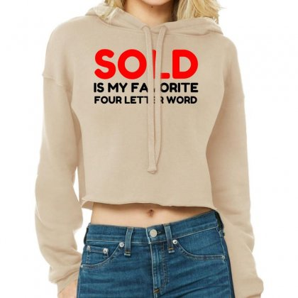 Sold Favorite Four Letter Word Funny Cropped Hoodie Designed By Perfect Designers