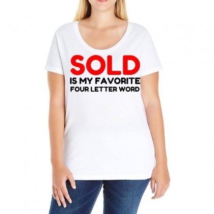 Sold Favorite Four Letter Word Funny Ladies Curvy T-shirt Designed By Perfect Designers