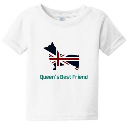 Queen S Best Friend Queen Corgi Baby Tee Designed By Lotus Fashion Realm