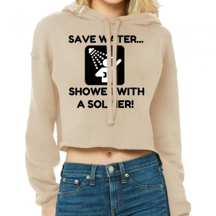 Soldier Water Cropped Hoodie Designed By Perfect Designers