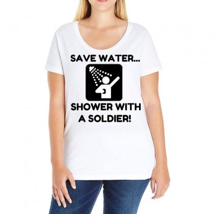Soldier Water Ladies Curvy T-shirt Designed By Perfect Designers