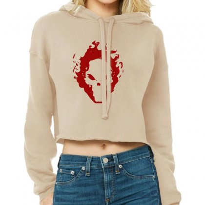 Fire Skull Cropped Hoodie Designed By Khurram