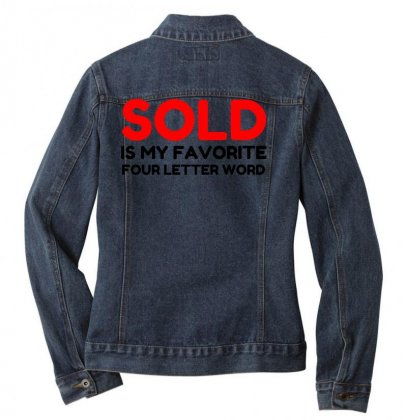 Sold Favorite Four Letter Word Funny Ladies Denim Jacket Designed By Perfect Designers