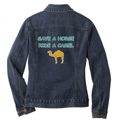 Save A Horse Ride A Camel Ladies Denim Jacket Designed By Lotus Fashion Realm