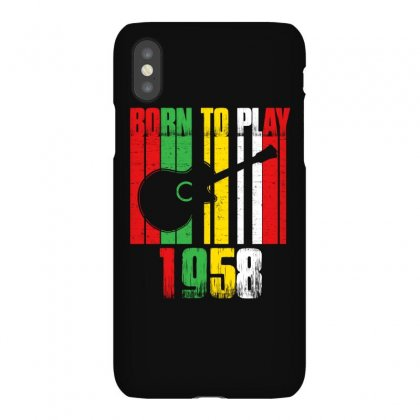 Born To Play Guitar 1958 T Shirt Iphonex Case Designed By Hung