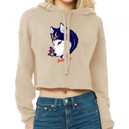 Savage Husky Cropped Hoodie Designed By Lotus Fashion Realm