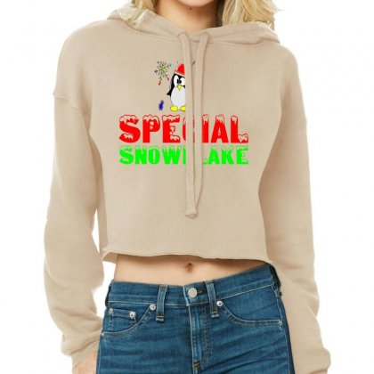 Special Snowflake Funny Cropped Hoodie Designed By Perfect Designers