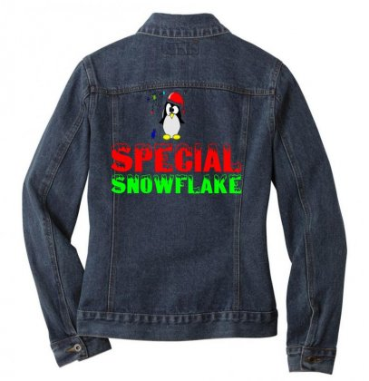 Special Snowflake Funny Ladies Denim Jacket Designed By Perfect Designers