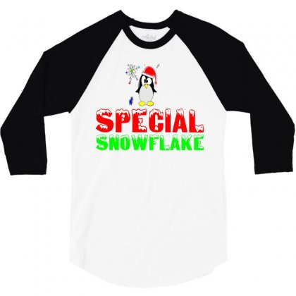 Special Snowflake Funny 3/4 Sleeve Shirt Designed By Perfect Designers