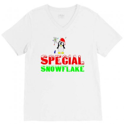 Special Snowflake Funny V-neck Tee Designed By Perfect Designers