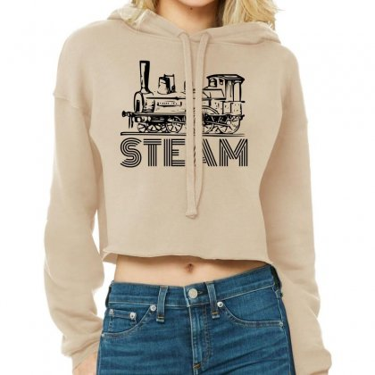 Steam Train Cropped Hoodie Designed By Perfect Designers