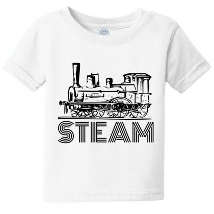 Steam Train Baby Tee Designed By Perfect Designers