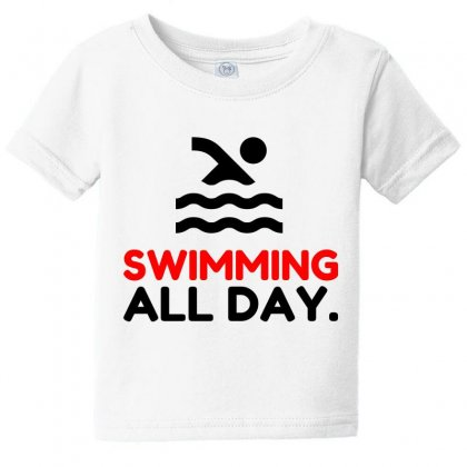 Swimming All Day Baby Tee Designed By Perfect Designers