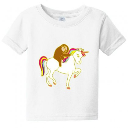 Sloth Riding On A Unicorn Baby Tee Designed By Lotus Fashion Realm