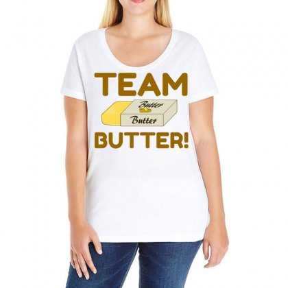 Team Butter Ladies Curvy T-shirt Designed By Perfect Designers