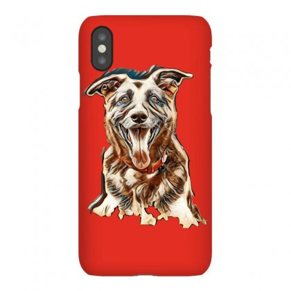 Very Old Alsatian Portrait Looking At The Camera With Mouth Open And T Iphonex Case Designed By Kemnabi