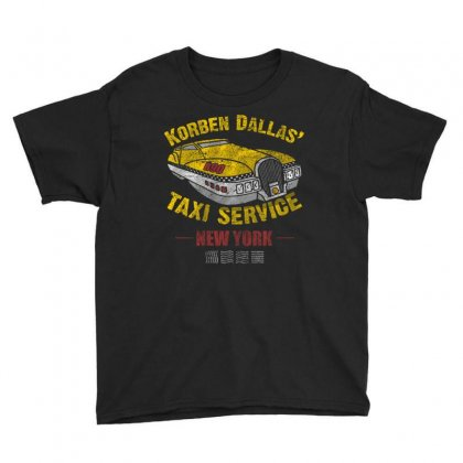 Korben Dallas' Taxi Service Youth Tee Designed By Mdk Art