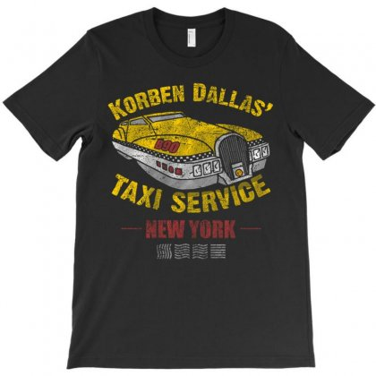 Korben Dallas' Taxi Service T-shirt Designed By Mdk Art