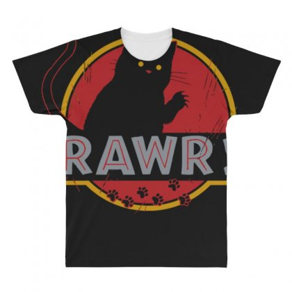 Rawr All Over Men's T-shirt Designed By Anrora
