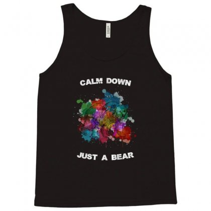 Calm Down Just A Bear For Dark Tank Top Designed By Zeynepu