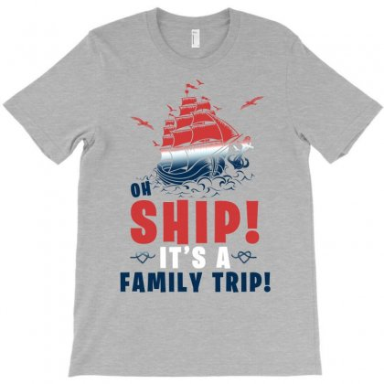Oh Ship It's A Family Trip Marine Color T-shirt Designed By Sengul