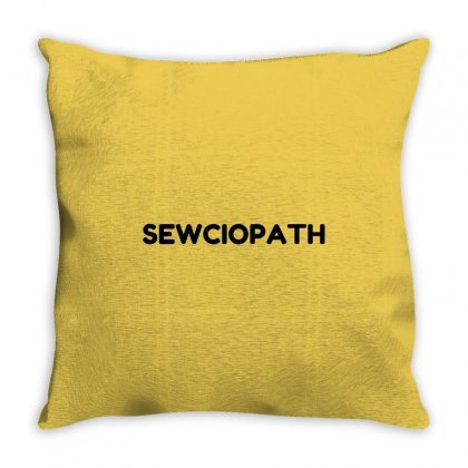 Sewciopath Throw Pillow Designed By Perfect Designers