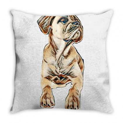 Young Cane Corso In Front Of White Background Throw Pillow Designed By Kemnabi
