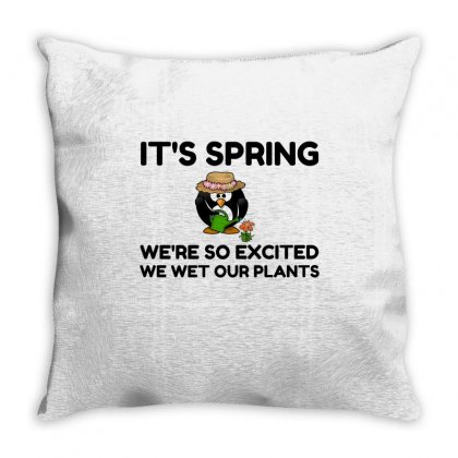 Spring Wet Plants Throw Pillow Designed By Perfect Designers