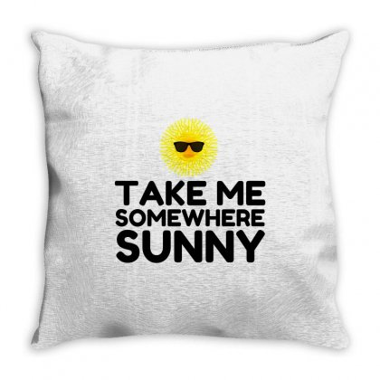 Take Me Somewhere Sunny Throw Pillow Designed By Perfect Designers