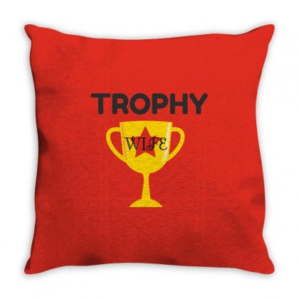Trophy Wife Throw Pillow Designed By Perfect Designers