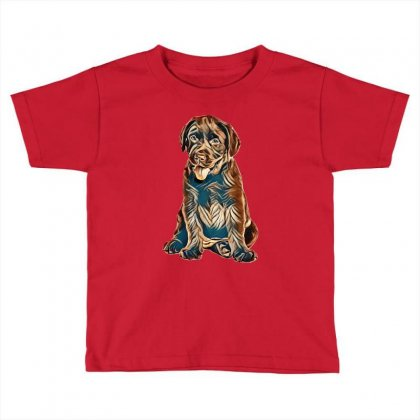 Chocolate Labrador Retriever Puppy On White Background Toddler T-shirt Designed By Kemnabi