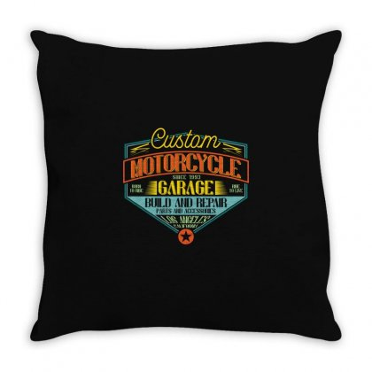 Custom Motorcycle Since 1993. Build And Repair Throw Pillow Designed By Jamalsalem79