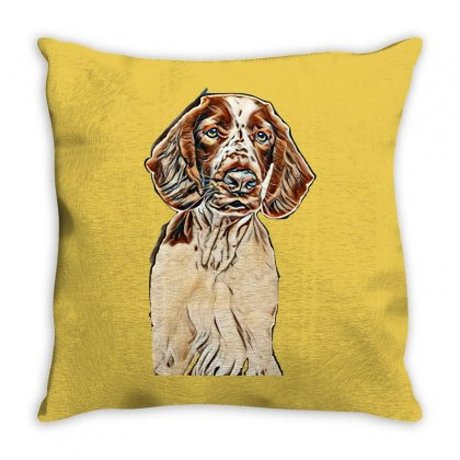 Young Welsh Springer Spaniel Dog On White Background. Animal Themes Throw Pillow Designed By Kemnabi