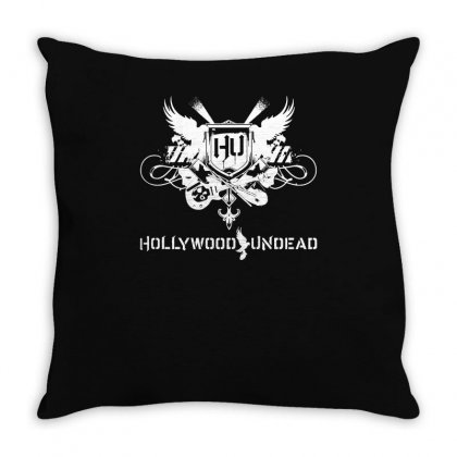 Hollywood Undead Rock Band Logo Throw Pillow Designed By Enjang