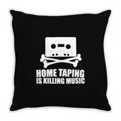 Home Taping Is Killing Music Throw Pillow Designed By Enjang