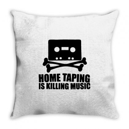 Home Taping Is Killing Music1 Throw Pillow Designed By Enjang