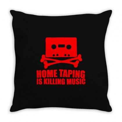 Home Taping Is Killing Music2 Throw Pillow Designed By Enjang